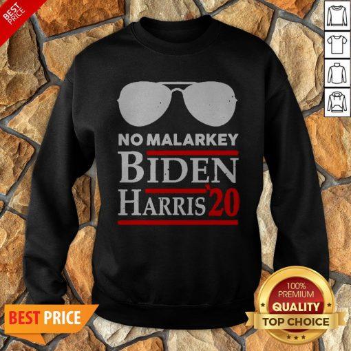 Official No More Malarkey Biden Harris 20 Sweatshirt