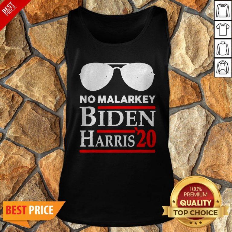 Official No More Malarkey Biden Harris 20 Tank Top