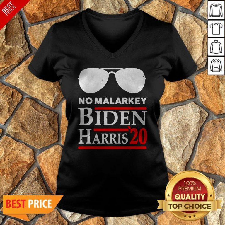 Official No More Malarkey Biden Harris 20 V-neck