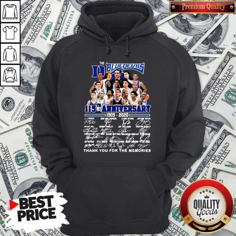 Official The Blue Devils 115TH Anniversary 1905 2020 Signatures Hoodie