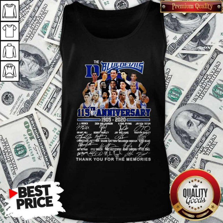 Official The Blue Devils 115TH Anniversary 1905 2020 Signatures Tank Top