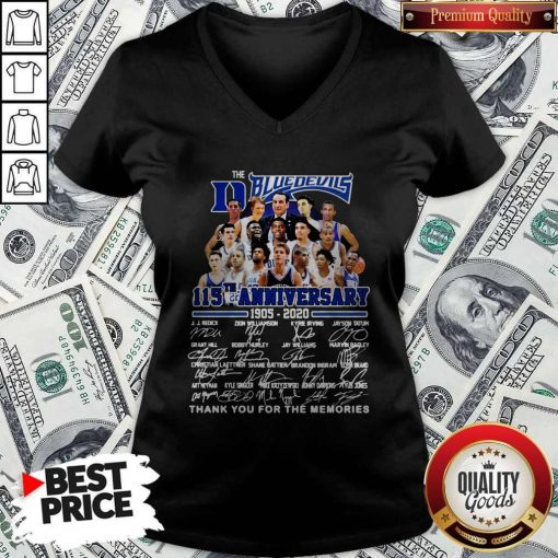 Official The Blue Devils 115TH Anniversary 1905 2020 Signatures V-neck