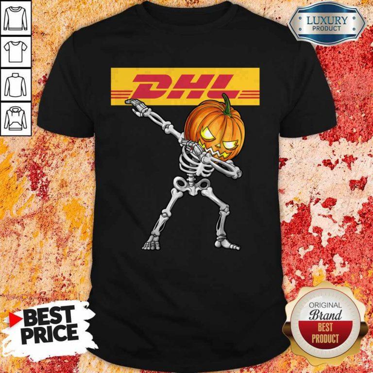 Skeleton Dabbing Halloween Pumpkin DHL Shirt