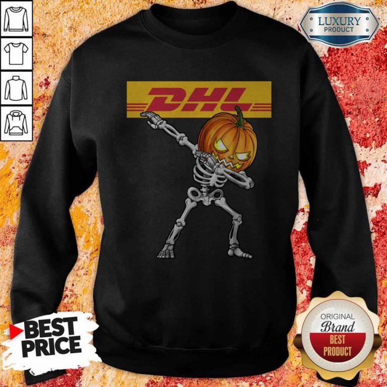 Skeleton Dabbing Halloween Pumpkin DHL Sweatshirt