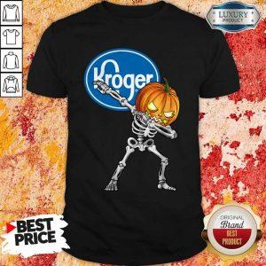 Skeleton Dabbing Halloween Pumpkin Kroger Shirt