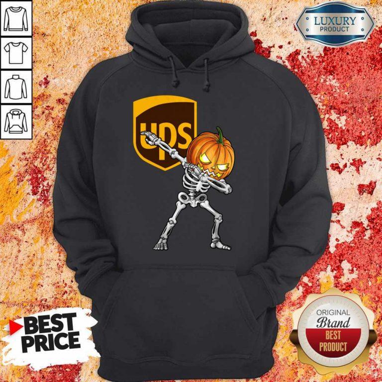 Skeleton Dabbing Halloween Pumpkin UPS Hoodie