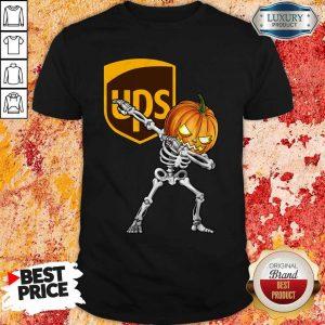 Skeleton Dabbing Halloween Pumpkin UPS Shirt