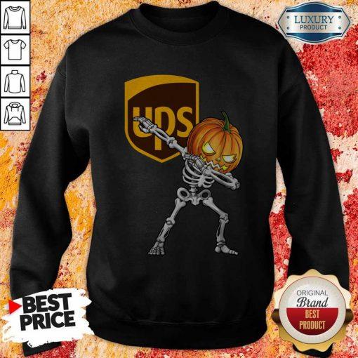Skeleton Dabbing Halloween Pumpkin UPS Sweatshirt