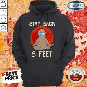 Sloth Yoga Face Mask Stay Back 6 Feet Blood Moon Hoodie