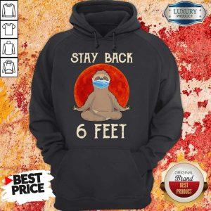 Sloth Yoga Face Mask Stay Back 6 Feet Blood Moon Hoodie