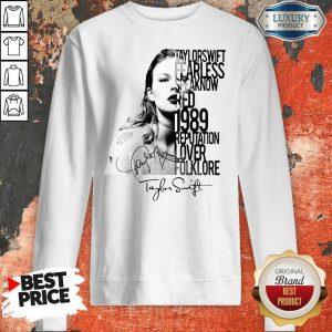 Taylor Swift Fearless Speak Now Red 1989 Reputation Lover Folklore Signature Sweatshirt