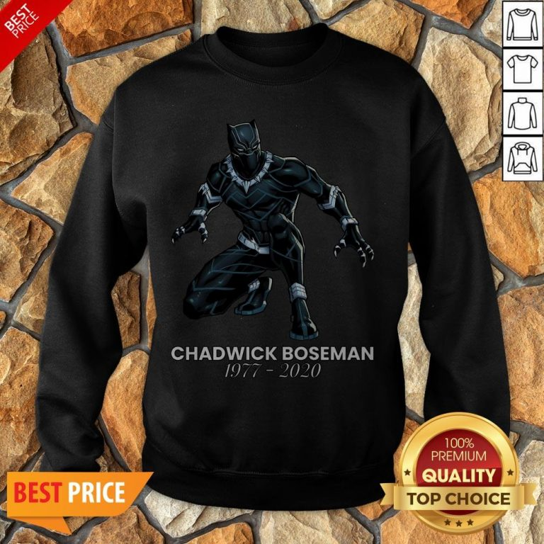 Thank You For The Memories Chadwick Boseman Black Panther Rip 1977-2020 Sweatshirt