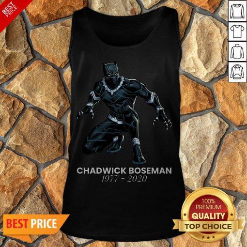 Thank You For The Memories Chadwick Boseman Black Panther Rip 1977-2020 Tank Top