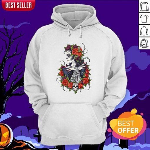 Сalavera Rose Sugar Skull Girl Day Of Dead Muertos Hoodie