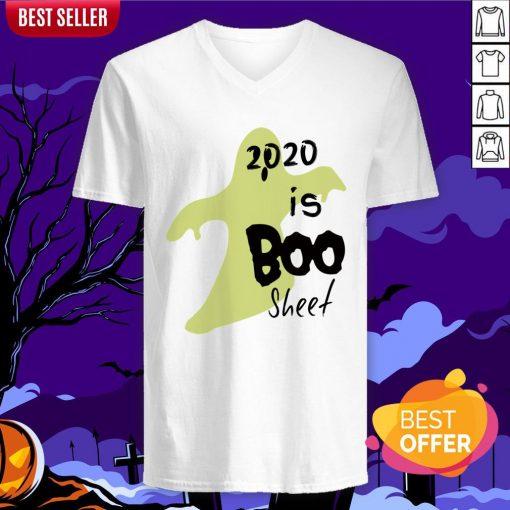 2020 Is Boo Sheet Spooky Quarantine Halloween V-neck