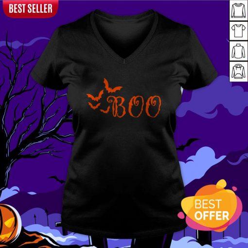 Boo Happy Halloween Day 2020 V-neck