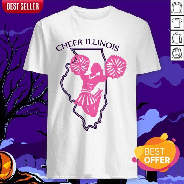 Cheer Illinois Happy Dia De Muertos Day Dead Skull Shirt
