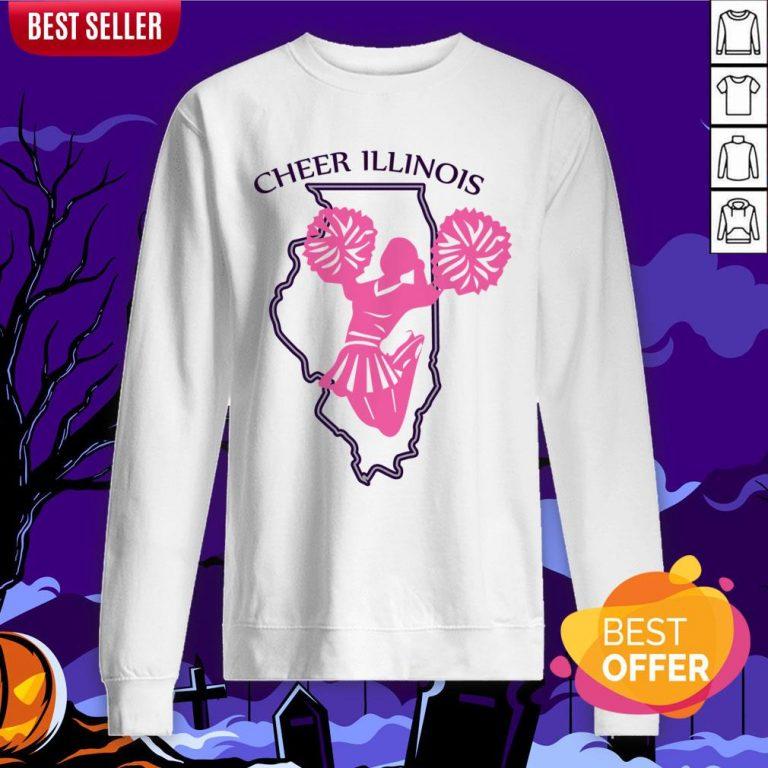 Cheer Illinois Happy Dia De Muertos Day Dead Skull Sweatshirt
