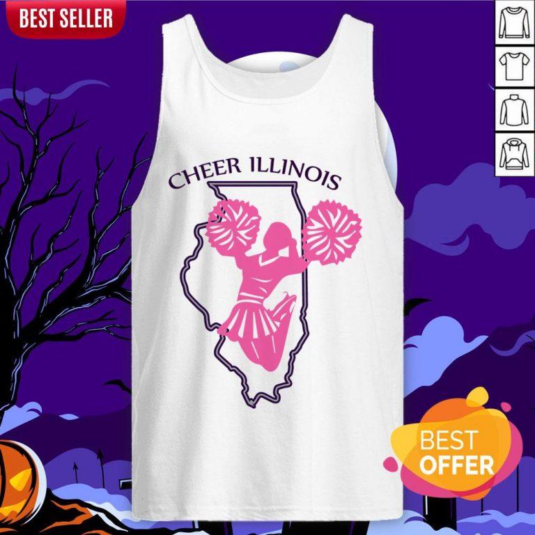 Cheer Illinois Happy Dia De Muertos Day Dead Skull Tank Top