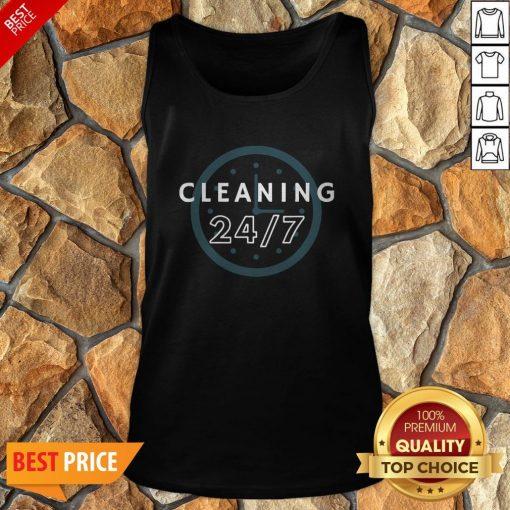 Cleaning 247 Housekeeping Humor Tank Top
