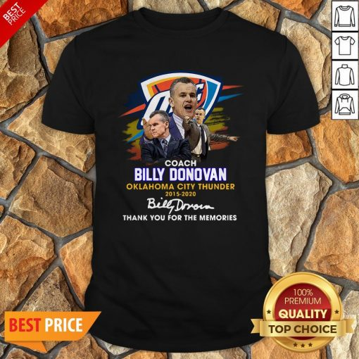 Coach Billy Donovan Oklahoma City Thunder 2015 2020 Signatures Shirt