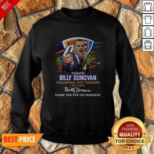 Coach Billy Donovan Oklahoma City Thunder 2015 2020 Signatures Sweatshirt