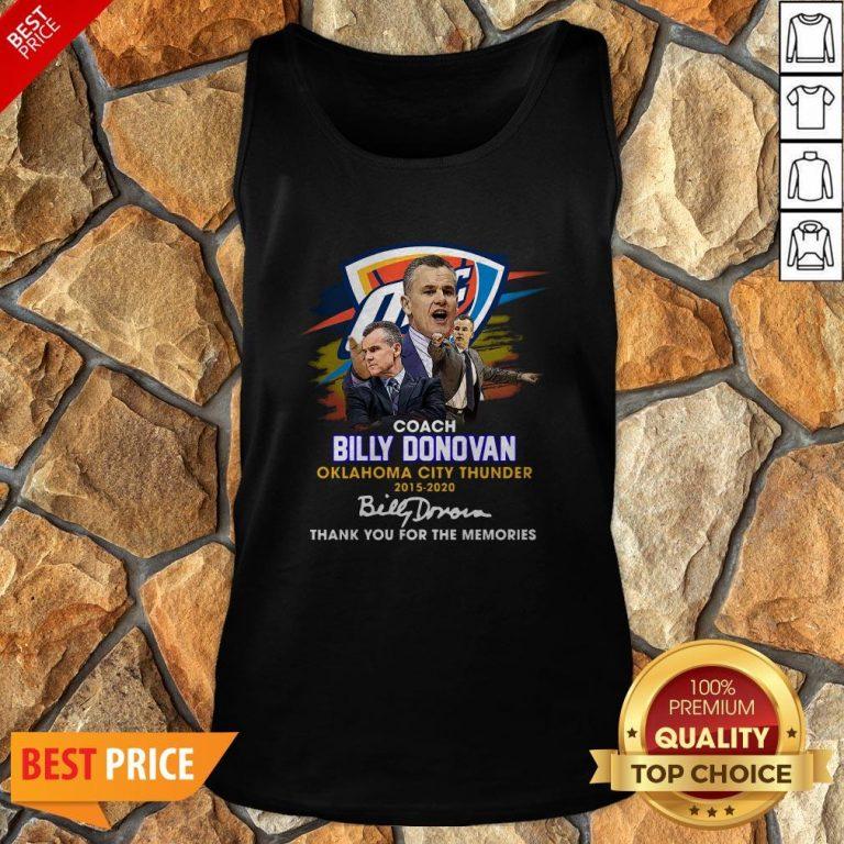 Coach Billy Donovan Oklahoma City Thunder 2015 2020 Signatures Tank Top