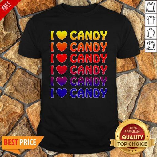 Cute Halloween Candy I Love Candy Boy Girls Kids Gift Shirt