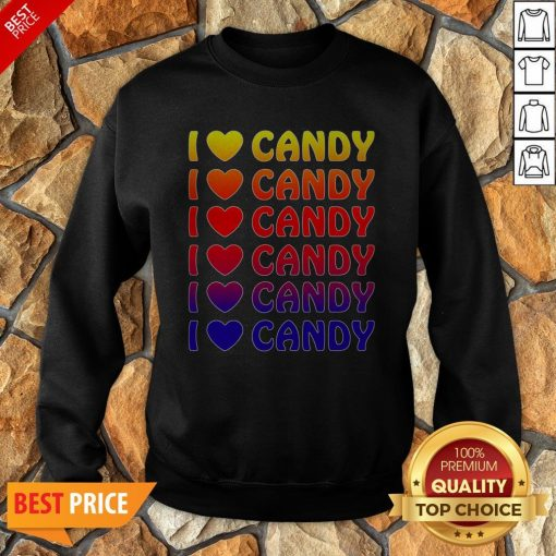 Cute Halloween Candy I Love Candy Boy Girls Kids Gift Sweatshirt