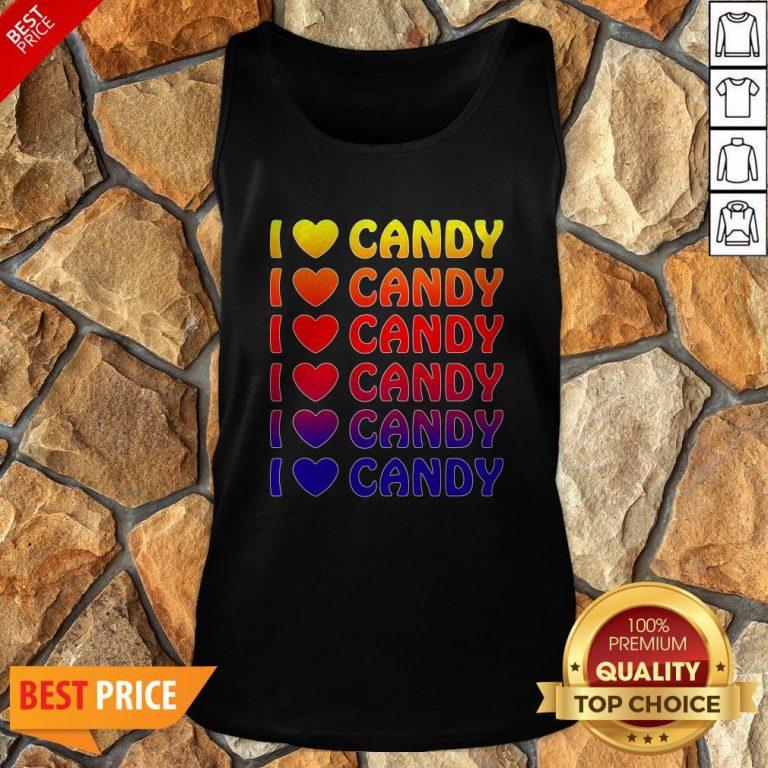 Cute Halloween Candy I Love Candy Boy Girls Kids Gift Tank Top