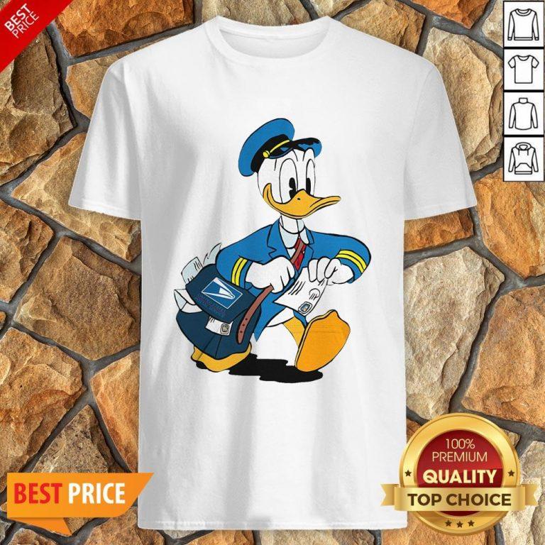 Donald Duck Mail Carrier Drawing Cartoon Shirt