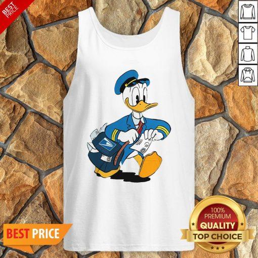 Donald Duck Mail Carrier Drawing Cartoon Tank Top