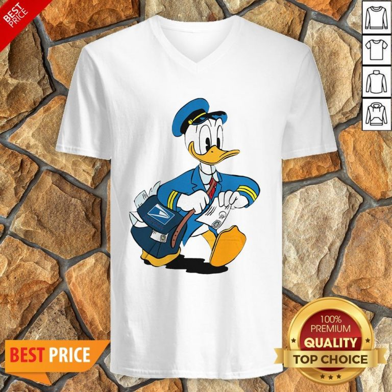 Donald Duck Mail Carrier Drawing Cartoon V-neck
