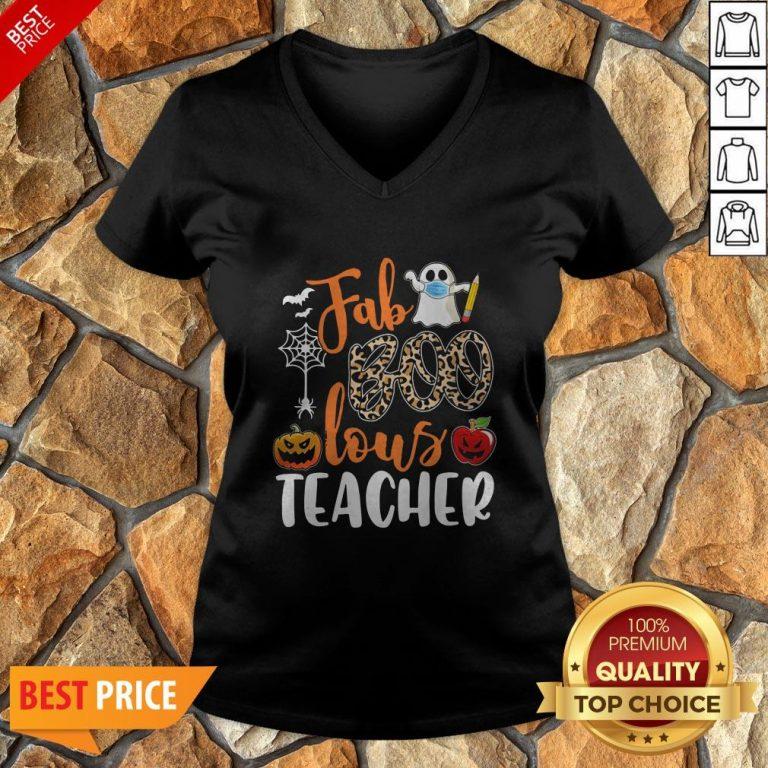 Fab Boo Lous Teacher Halloween V-neck