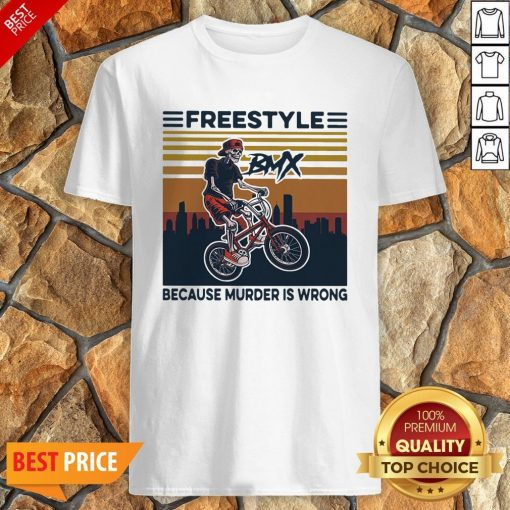 Freestyle Because Murder Is Wrong Biker Vintage Shirt