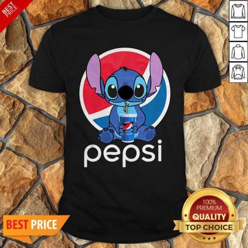 Funny Stitch Hug Pepsi Shirt