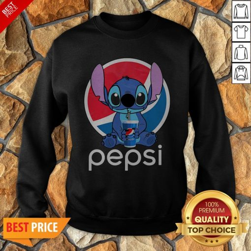 Funny Stitch Hug Pepsi Sweatshirt