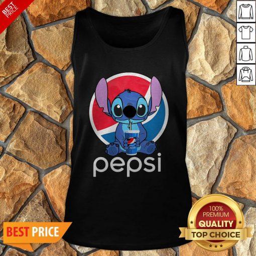 Funny Stitch Hug Pepsi Tank Top