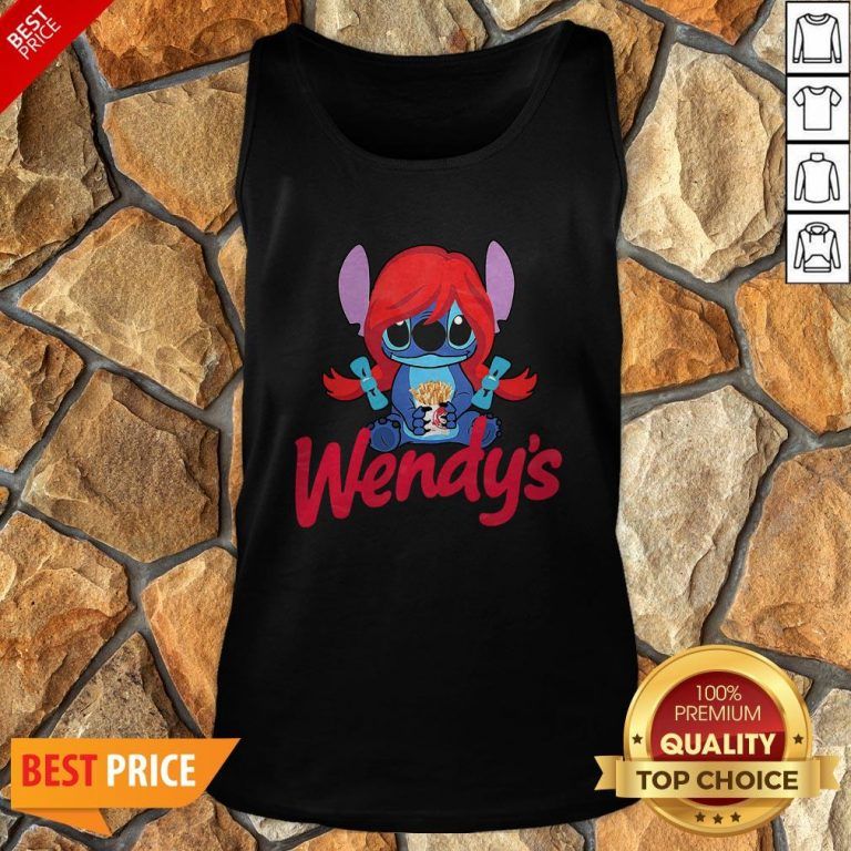 Funny Stitch Hug Wendy's Tank Top