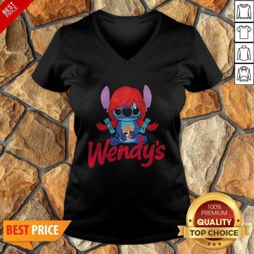 Funny Stitch Hug Wendy's V-neck