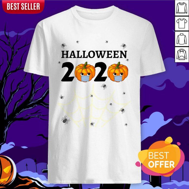 Halloween 2020 Design With Punkin Mask Quarantine Shirt