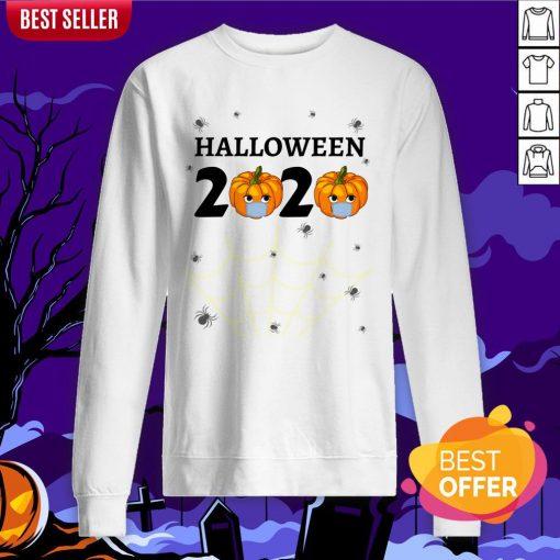 Halloween 2020 Design With Punkin Mask Quarantine Sweatshirt