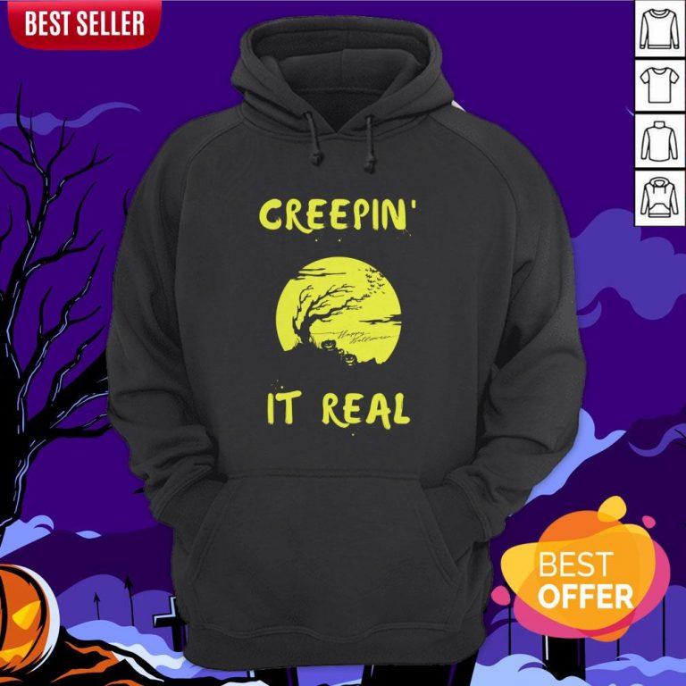 Halloween Funny Graveyard Greepin' It Real Hoodie