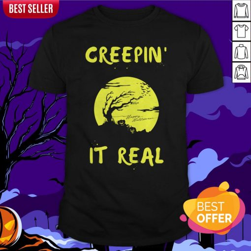 Halloween Funny Graveyard Greepin' It Real Shirt