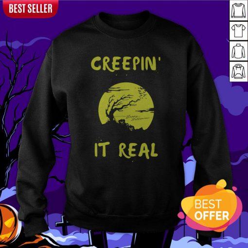 Halloween Funny Graveyard Greepin' It Real Sweatshirt