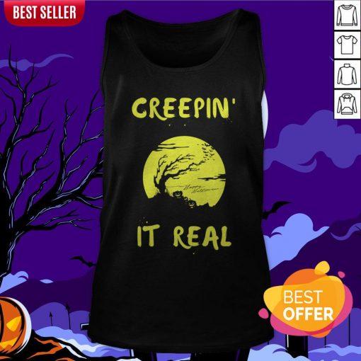 Halloween Funny Graveyard Greepin' It Real Tank Top