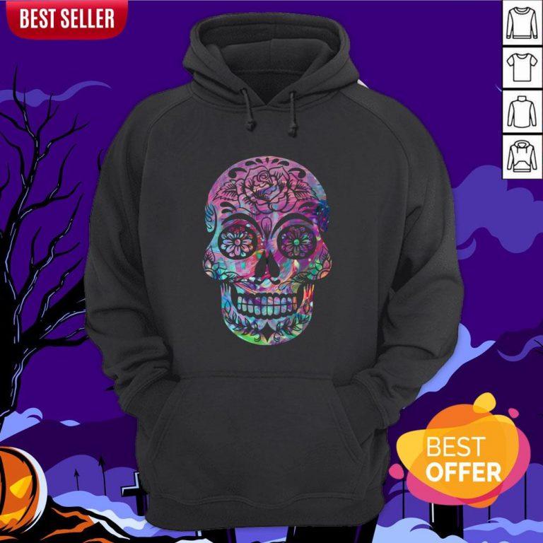 Halloween Sugar Skull Dia De Los Muertos Day Of Dead Hoodie