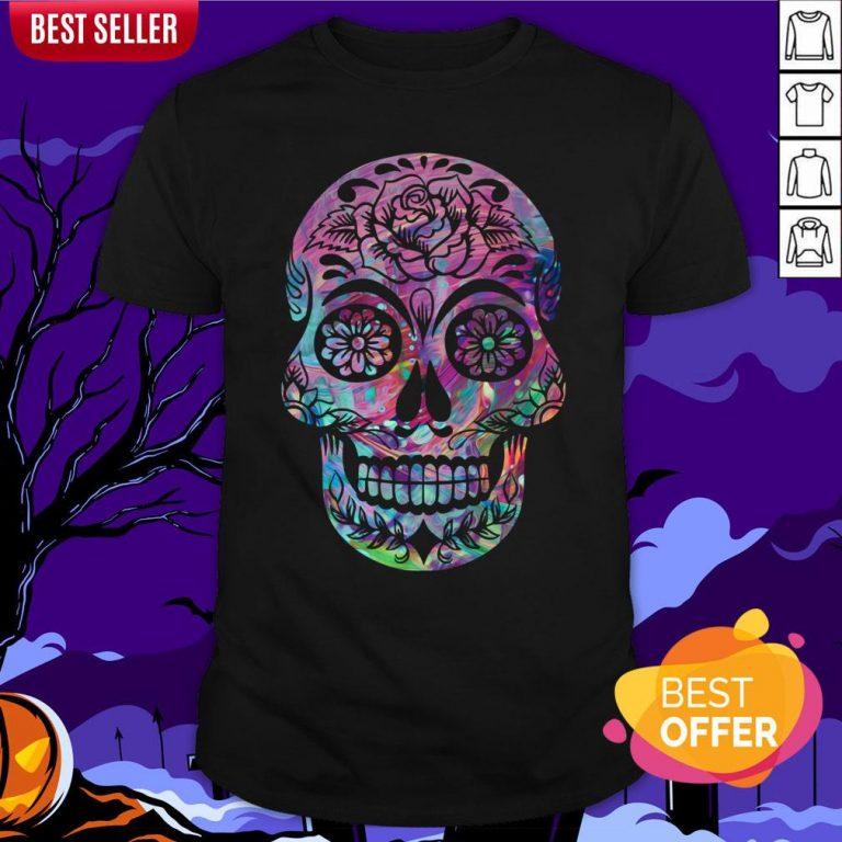 Halloween Sugar Skull Dia De Los Muertos Day Of Dead Shirt