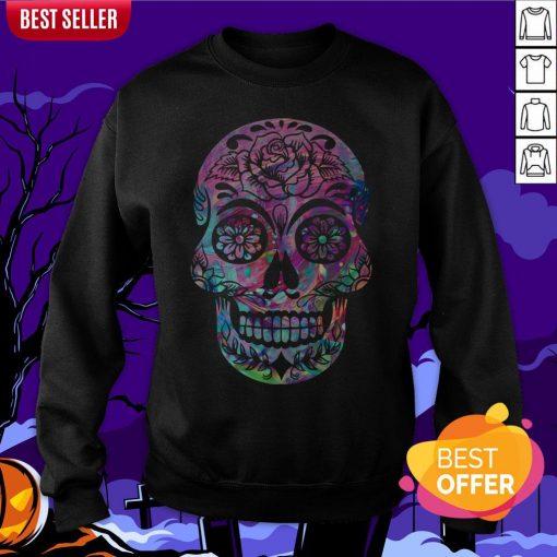 Halloween Sugar Skull Dia De Los Muertos Day Of Dead Sweatshirt