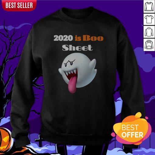 Happy Halloween Day 2020 Is Boo Sheet Sweatshirt